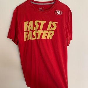 Nike 49ers Tshirt Fast is Faster San Francisco NFL